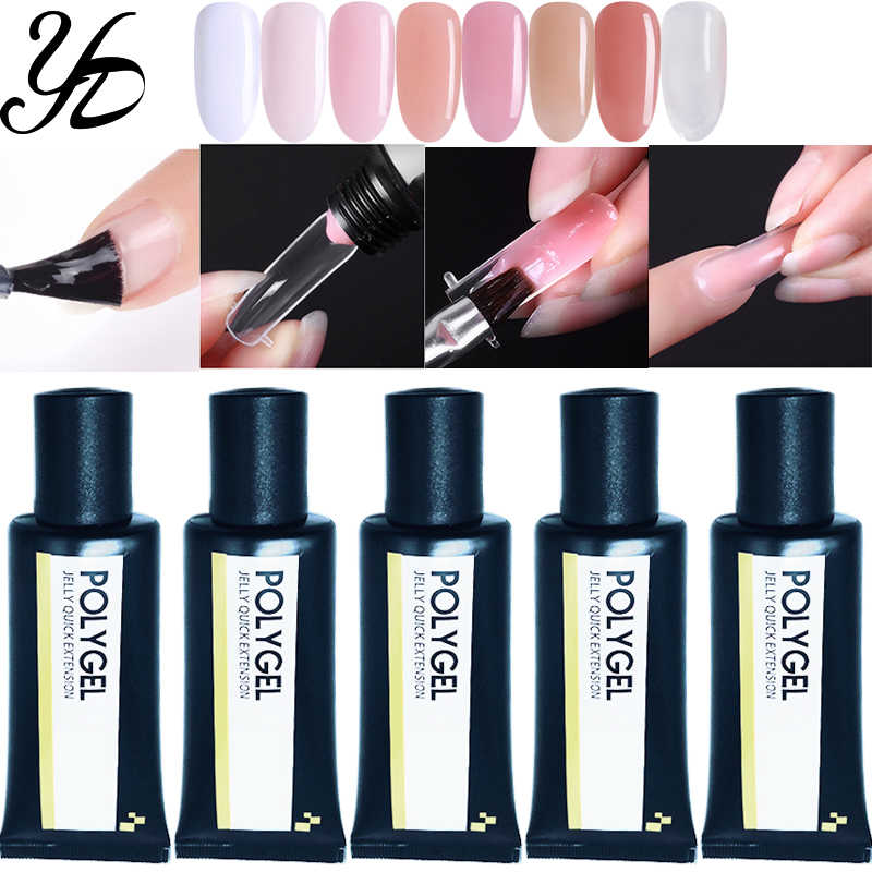 Yiday 1x30g Quick Extension Poly Gel UV Nagellak Vernis 8 Kleur voor Snelle Builder Valse Camouflage Crystal Acryl Nagels Art