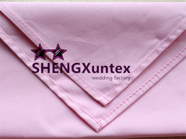 100pcs pink color 100 cotton table napkin wedding hotel decoration