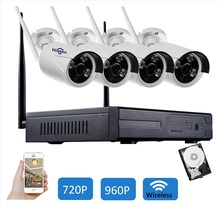 720P 960P Wireless CCTV System 4CH wi-fi NVR include HDD wifi IP Camera in outdoor Bullet CCTV Camera 4 channel ccvt Kits