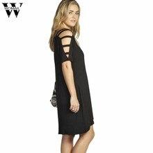 2af332b5d8a Womail vestido Broadcloth Regular vestidos LooseTops belos vestidos baratos  das Mulheres da Moda Verão 3/4 Vestido de Manga Casu.