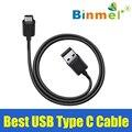 Оригинал Binmer Черный USB Тип C Данных Зарядки Зарядный Кабель для LG G5/HUAWEI P9/G9 02 Июня