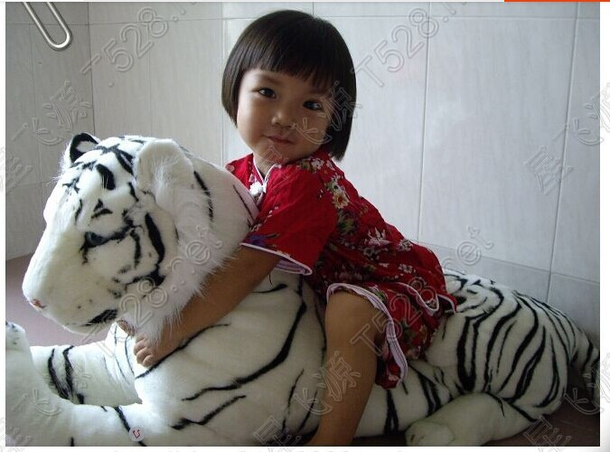 big plush simulaiton tiger toy lovely big white tiger doll creative lying tiger doll gift about 110cm 0429big plush simulaiton tiger toy lovely big white tiger doll creative lying tiger doll gift about 110cm 0429