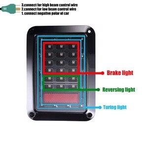Image 4 - 75 用ジープラングラー Led テールライト逆ライトブレーキライト、ターンシグナルプラスチックラングラーのためのテールライトジープ Wragnler JK
