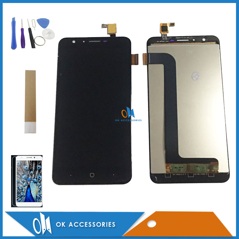 Original Quality Black White Color For Doogee Y6 Y6C Touch Screen Digitizer + LCD Display With Kit