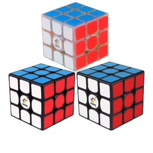 Yuxin Kylin V2M 3x3x3 Magnetic Magic Cube Square Cube Puzzle Toy for Brain Training - Black Background and Dark Red Paster цена
