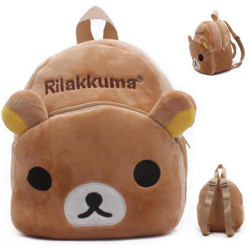 Plush Children Backpacks School Backpack Cute Cartoon Rilakkuma Boy Girl School Bag Kids Baby Bags For Kindergarten Schoolbag