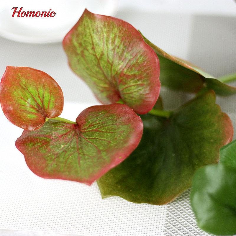 5PCS vihreä perhonen keinotekoiset lehdet kasvi silkki kukka häät - Tavarat lomien ja puolueiden - Valokuva 6
