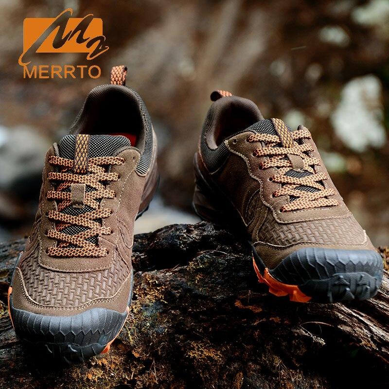 Enviado Desde Rusia MERRTO Zapatos Para Caminar Al Aire Libre Del Zurriago de Los Hombres Multi Fundtion Impermeable Caminando Zapatillas de deporte de Resistencia Al Desgaste Deportes