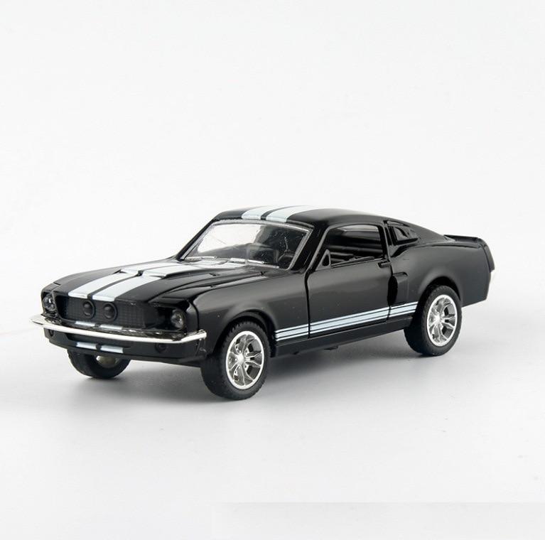 Ford mustang gt 1967 gt500 liga de retorno carro brinquedo modelo de carro de brinquedo das crianças modelo de exibição presente