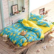 Cartoon Banana Bedding Sets For Kids Children Single Double Bed Twin Queen