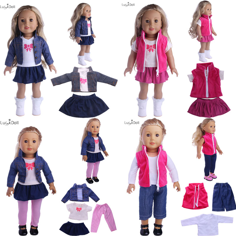 4 Styles Cost-effective Suit Fit 18 Inch American&43 CM Baby Doll Clothes Accessories,Girl's Toys,Generation,Birthday Gift