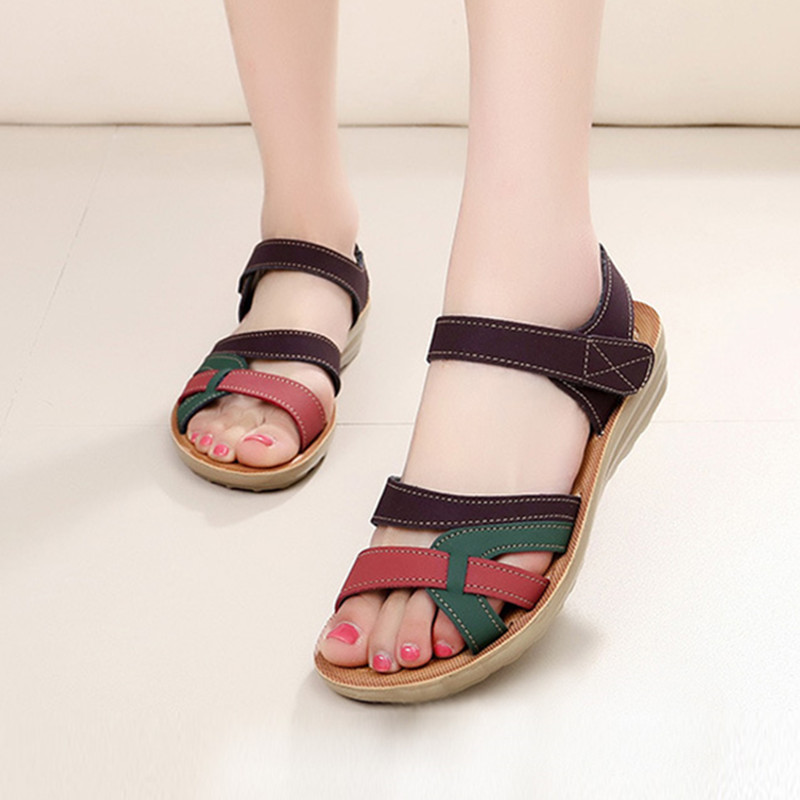 Summer Women Sandals Bohemian Flat Sandals Women Shoes Open Toe Mothers Shoes Soft Ladies Sandals Casual Shoes Sandalias Size 41Summer Women Sandals Bohemian Flat Sandals Women Shoes Open Toe Mothers Shoes Soft Ladies Sandals Casual Shoes Sandalias Size 41
