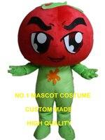 Tomaat mascotte kostuum custom stripfiguur cosplay volwassen grootte kostuum carnaval 3096
