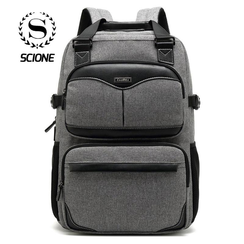 Scione Large Capacity Travel Backpacks Waterproof 17 Inch Laptop Business Shoulder Bags Simple Practical Casual Luggage
