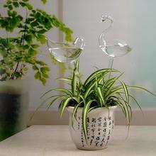 Автоматическая ваза для полива стакан с Фламинго симпатичная ваза в виде симпатичных животных, птиц Стекло ваза ящик для комнатных растений, ваза садовый Декор для дома