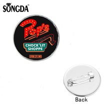 SONGDA Riverdale Personalized Style Glass Cabochon Brooches Metal Handmade Jewelry Pins Women Men Gifts For Bag Clothes Decorate(China)