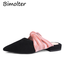 Bimolter black pink fashion spring autumn summer ladies prom shoes pointed toe elegant women high heels slippers size34-39 NC030