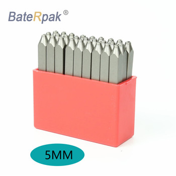5MM English Alphabets Standard Number BateRpak letters steel punch stamp,(A-Z and & )  27pcs/box 3 8 10mm letter steel stamp die punch set a z 27 pcs part codes