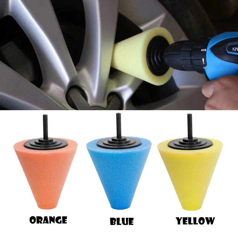 80 мм приработки поролоновой губки полировки в форме конуса полировки колодки для колеса автомобиля концентратора Инструмент Чистка ...