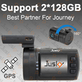 Support 2x128GB micro sd Card Jusky Mini 0806 Ambarella A7 Super HD 1296P Car DVR Camera GPS Dash Cam Auto Video Registrator Car