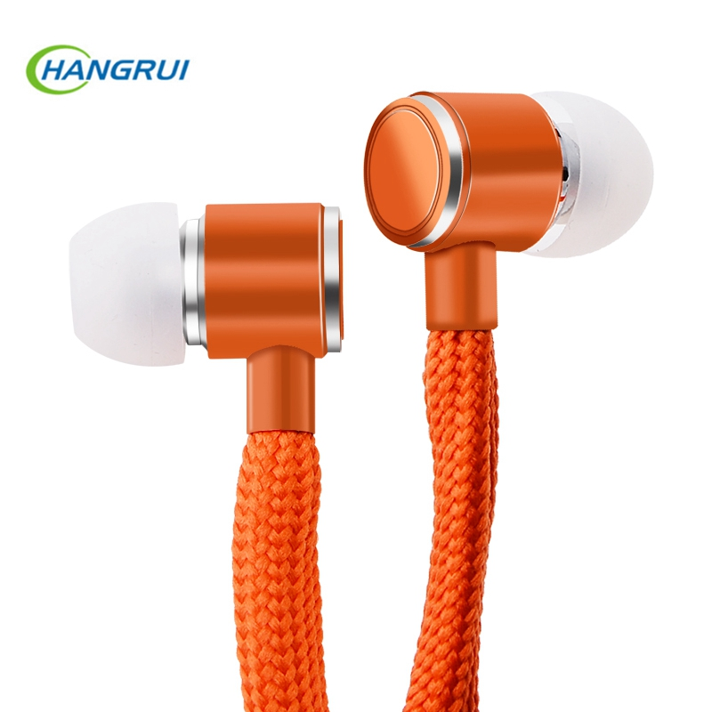 Shoelace Earphones 3.5mm In-Ear Earphone Subwoofer Music Headset With Microphone Stereo Earbuds Sport Running Earpiece Handsfree