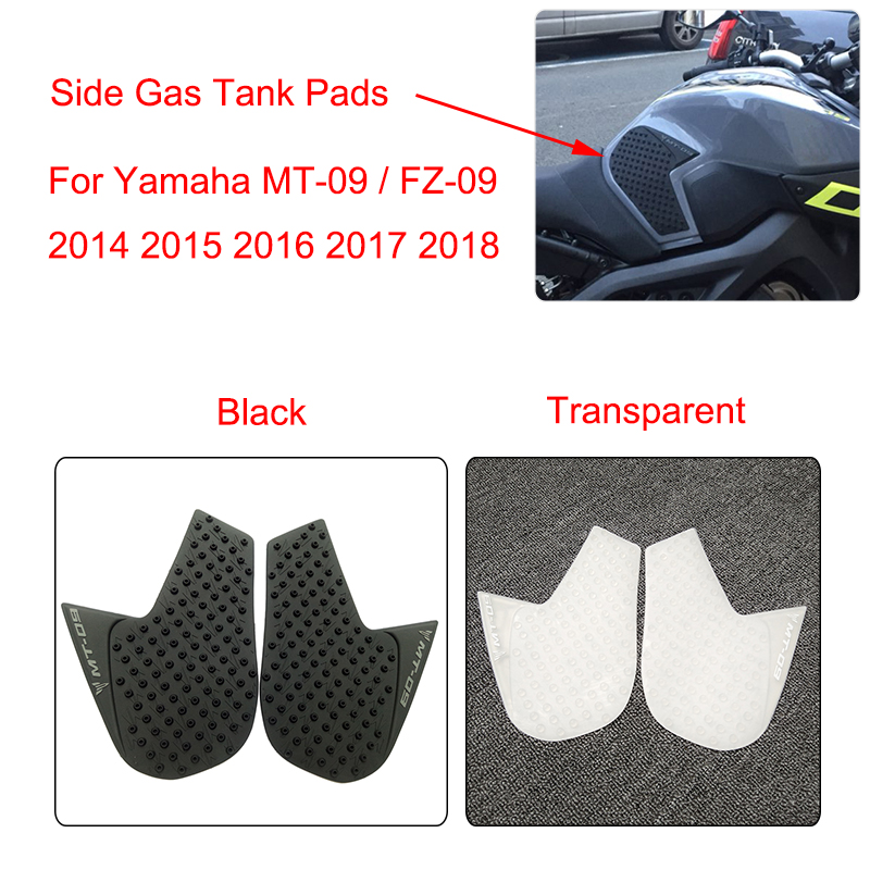 MTCLUB MT09 MT 09 MT-09 Anti Slip Fuel Tank Pad Side Gas Knee Grip Traction Pads For Yamaha MT-09 2014 2015 2016 2017 2018