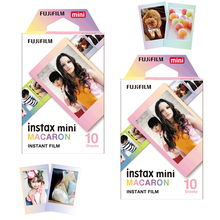 Para Fuji Instant Mini 9 25 50s 90, cámara fotográfica Share SP 1 Polaroid 300 Fujifilm Instax Mini 8, papel de película Macaroon 20 hojas