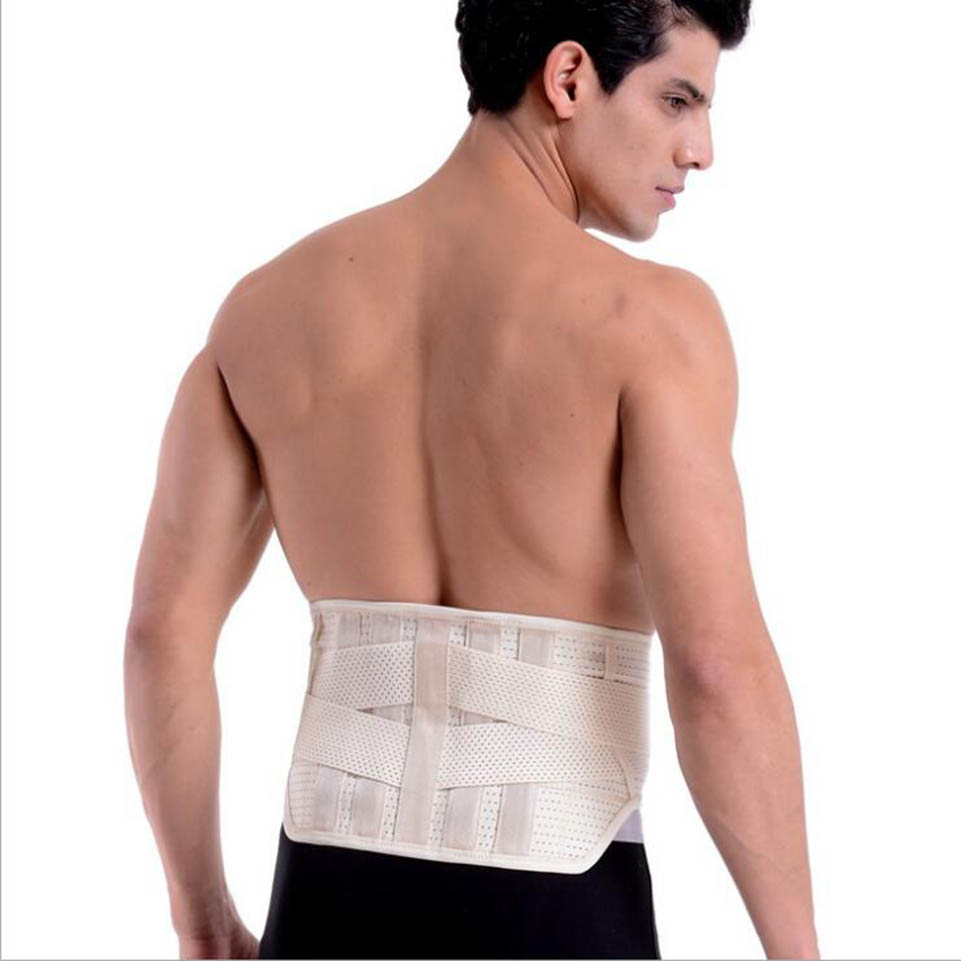 Lumbar Brace Support Men Back Wrap Elastic Belt Spine Pain Relief Back Support Health Care Medical Products Size S M L XL