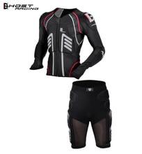 GHOST RACING Motorcycle Jacket Men Motocross Protective Gear Chaqueta Moto Armor Protection Racing Body