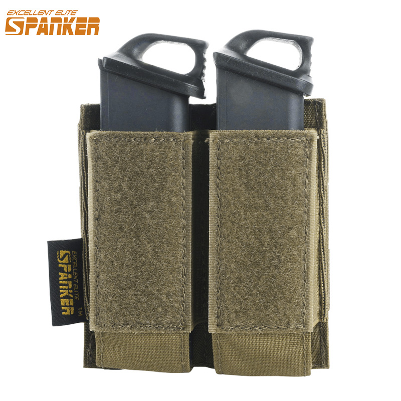 EXCELLENT ELITE SPANKER Tactical Pistol Molle Magazine Pouch Military Glock Double Clip Small Bag Paintball Game Accessory