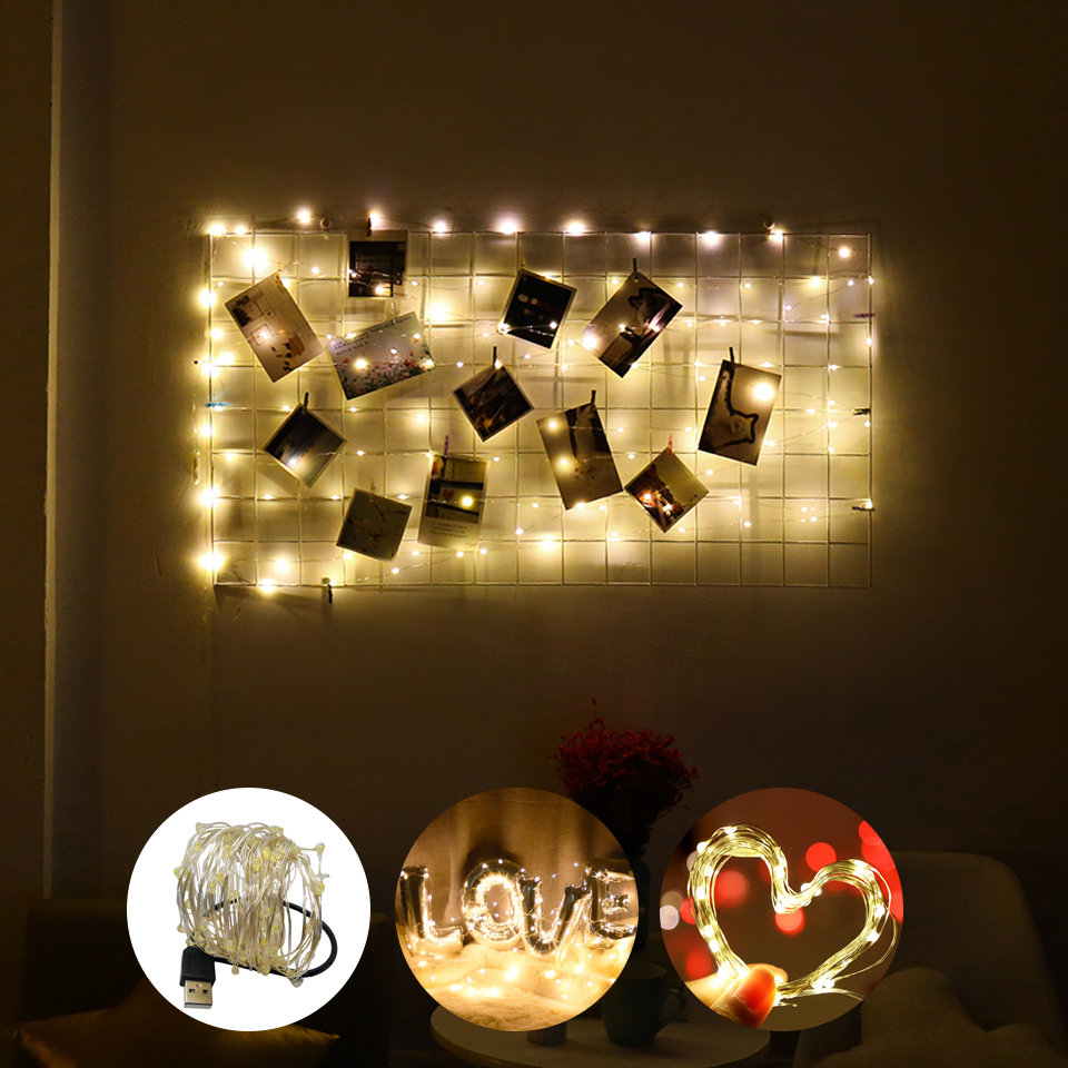 USB Night Light 1m 2m 5m 10m Wine Cork Fairy Light Holiday Led String Lights Garland Christmas Wedding Party Decorative Lighting
