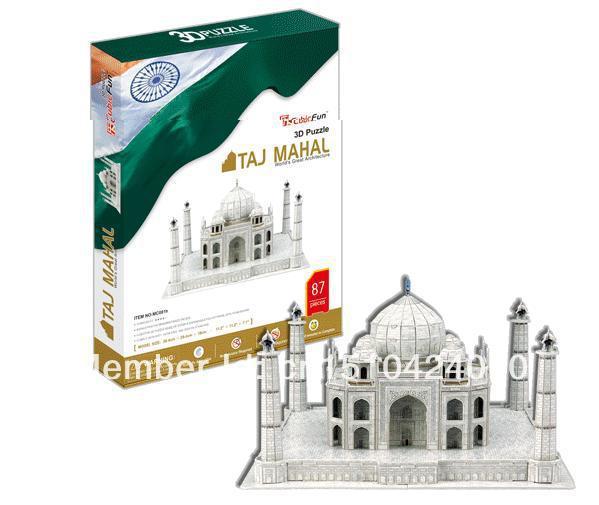 Taj Mahal CubicFun 3D educational puzzle Paper & EPS Model Papercraft Home Adornment for christmas birthday gift wat phra kaew cubicfun 3d educational puzzle paper
