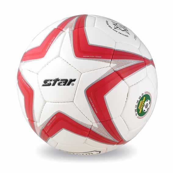 Free shipping! High quality Match use Star Soccer Ball/Football Size 5 SB5175-04 STORM Gift: gas pin & net bag