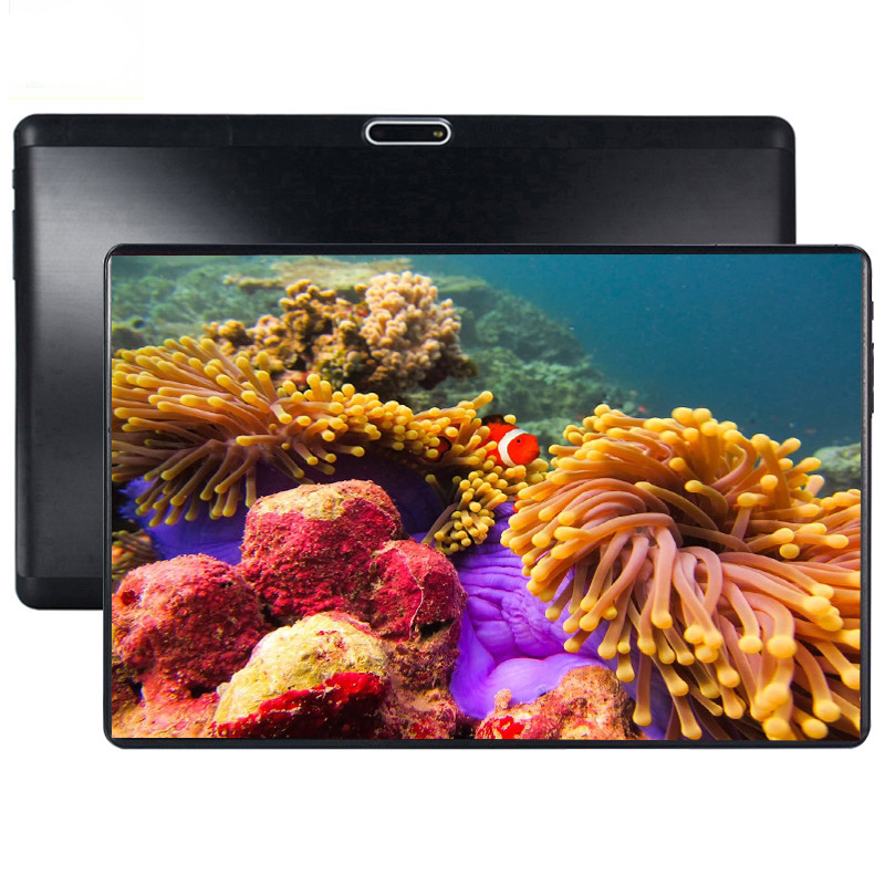 10.1' Computer Laptop Tablets Android 9.0 Octa Core Ram 6GB ROM 64GB Dual Camera 5MP Dual SIM Tablet PC Wifi GPS Bluetooth Phone