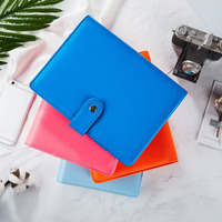 BW New Fresh Notebook Diray Book Solid Color High End Imitation Leather For Office Students Stationery