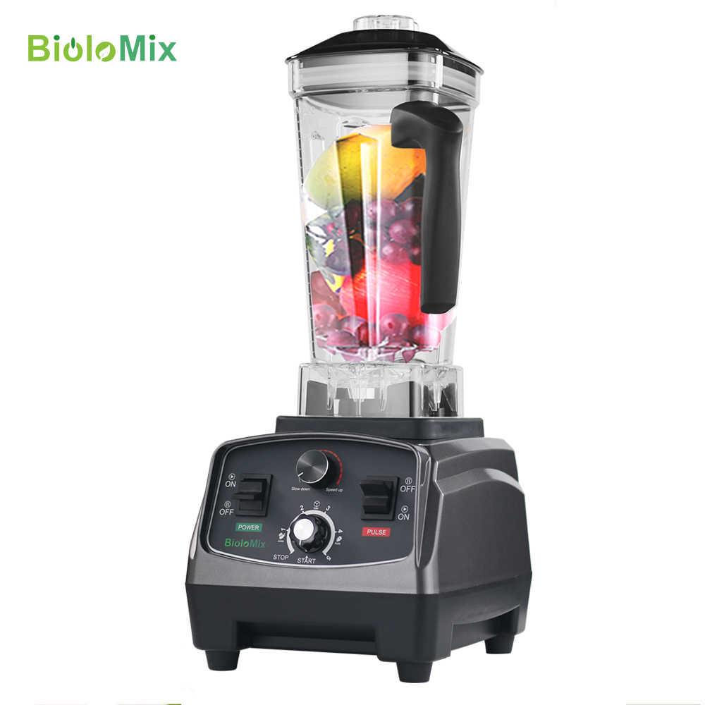 Bpa livre 2l jar timer super 2200 w resistente profissional inteligente misturador liquidificador espremedor processador de alimentos frutas smoothies gelo triturador