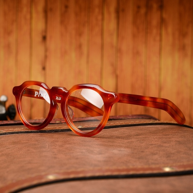 2015 Handmade eyeglasses frame Japan Korean style retro fashion ...