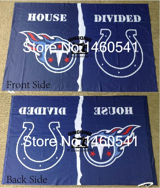 Tennessee Titans Indianapolis Colts House Divided Flag 3ft