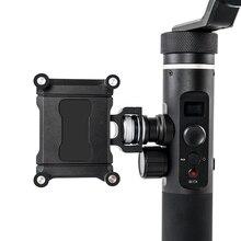 Feiyu Adaptador de Suporte Do Telefone Móvel Suporte Suporte de Montagem Clip para Feiyu SPG2 G6 G6plus G5 Action Camera Gimbal Braçadeira Suporte para iPhone X