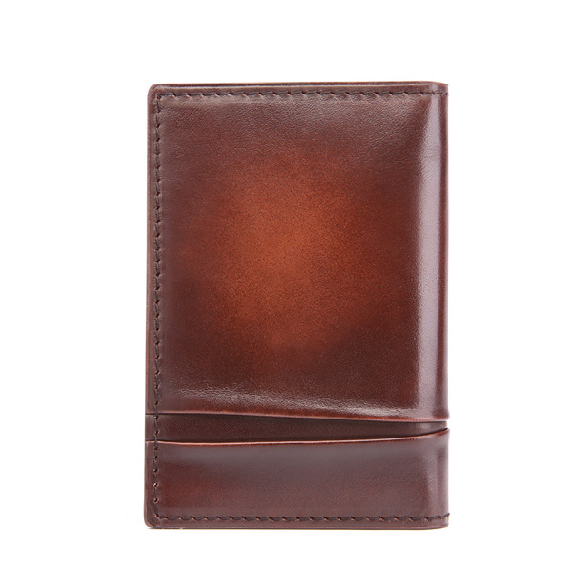 TERSE_Handmade genuien leather card holder high quality fashion card wallet customize logo card bags factory to customers