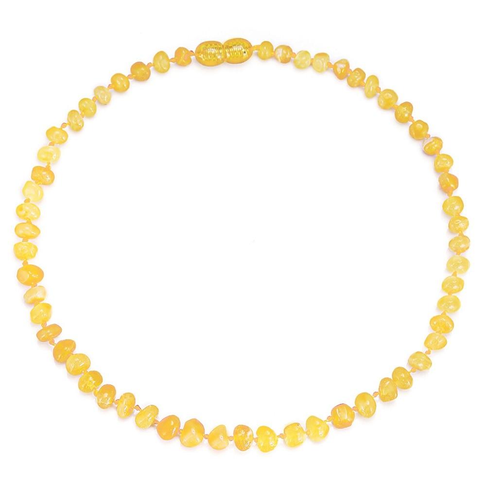 Naszyjnik z bursztynem bałtyckim / bransoletka dla dziecka - prosty - Wykwintna biżuteria - Zdjęcie 4