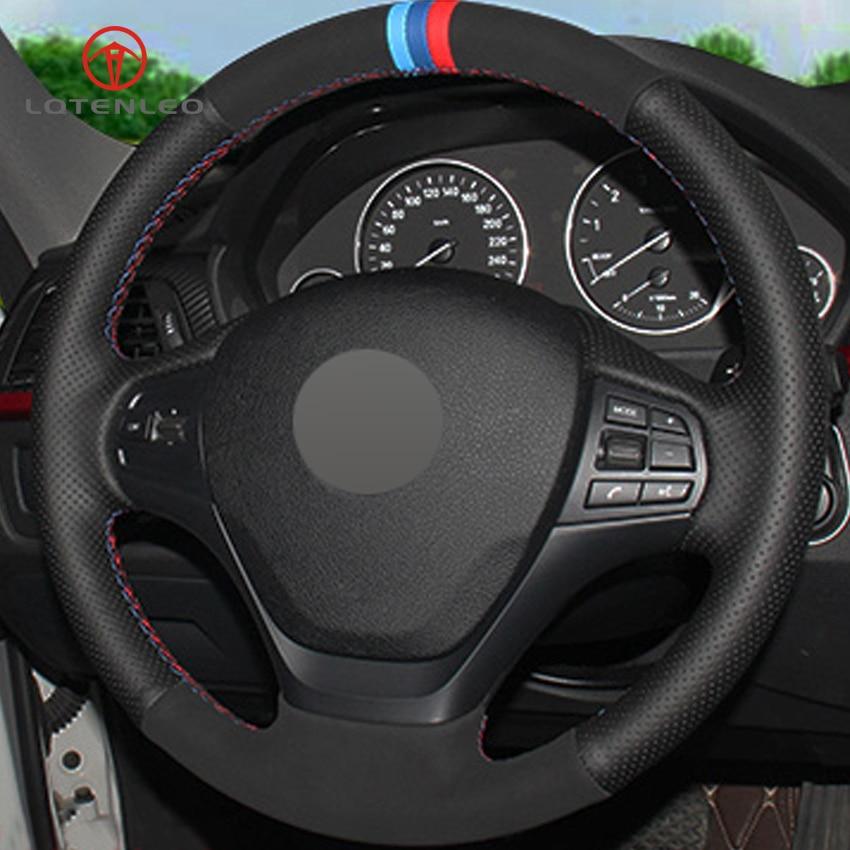 Universal 38cm hand sewing Steering Wheel Cover Genuine Cowhide Leather DIY
