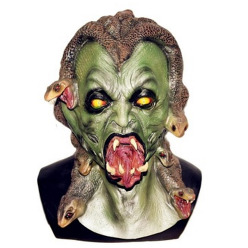 brand new greek mythology Snake gorgon deluxe adult latex monster Medusa mask
