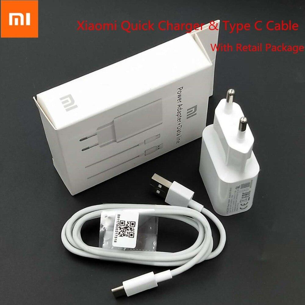 Original Xiaomi mi 6 adaptador de cargador rápido 12 V 1.5A de carga rápida USB de pared QC 3,0 para mi A2 a1 8 Max 3 mi x 2 S rojo mi nota 7