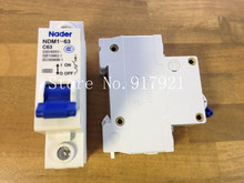 [ZOB] The letter NDM1-63 Nader genuine new C63 mini circuit breaker 1P63A air switch  --20PCS/LOT [zob] nader ndb2 63 c50 3 of2 longsure breaker 3p 50a to ensure genuine 5pcs lot