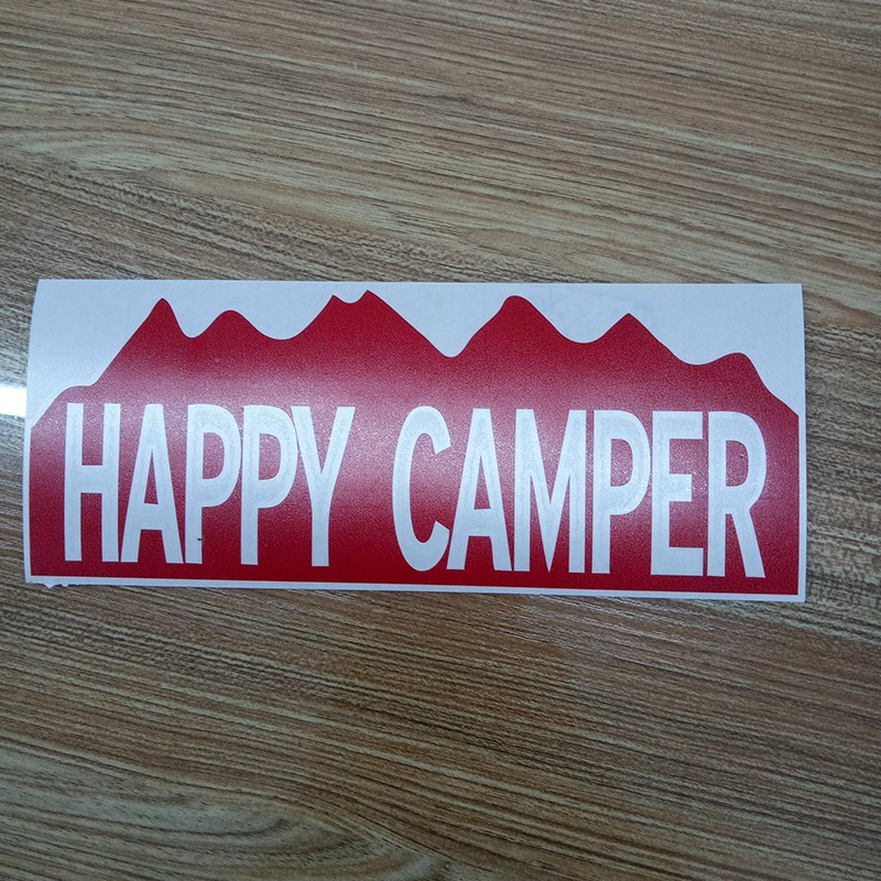Happy Camper Camping Bumper Sticker Vinyl Car Window Door Decal Waterproof In Stickers From Automobiles Motorcycles On Aliexpress
