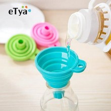 Gadgets-Accessories Cooking-Tools Kitchen Silicone 2 Cozinha 2pcs Hopper Funnel Foldable