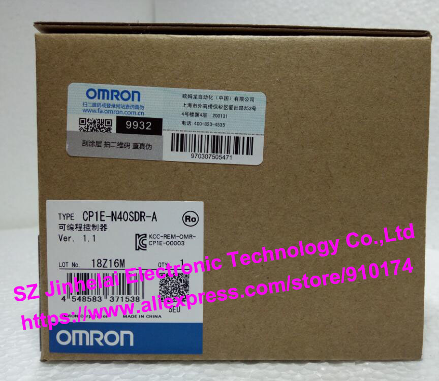 100% New and original CP1E-N40SDR-A OMRON PLC [zob] new original omron omron beam photoelectric switch e3jk tr12 c 2m 2pcs lot
