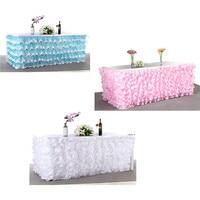 Drape Piega Tulle Wedding Table Skirt Tulle Tutu Gonna Tavolo Stoviglie Partito Baby Shower Compleanno Decorazioni di Nozze 275*80 cm