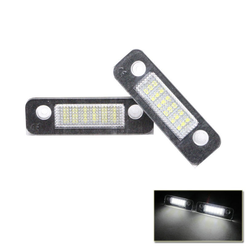 2x LED License Plate Light For Ford Fiesta Fusion 02 up Mondeo MK2 1996-2000 Car-Styling Led White Rear Light Lamps 2x white xenon led rear number plate light for ford s max galaxy mondeo kuga focus fiesta auto replacement lamp free error